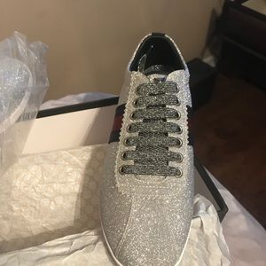 482ed7847f6c Shoes - Gucci Bambi Metallic Trainer Shoes